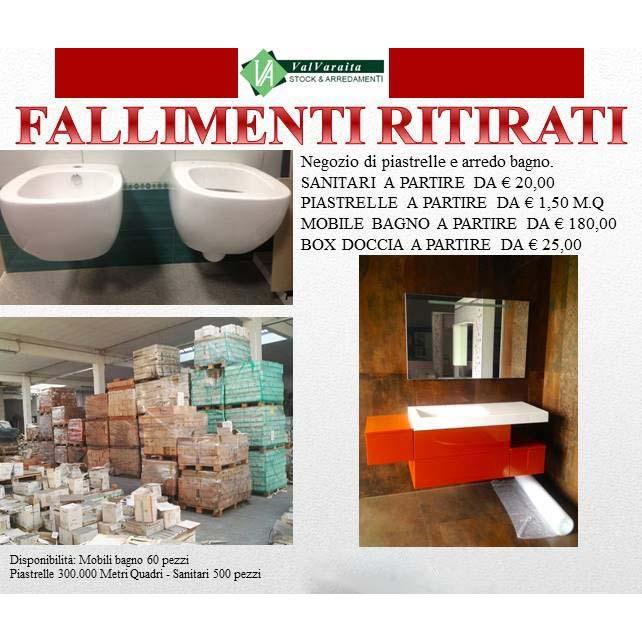 RITIRATO FALLIMENTO NEGOZIO DI PIASTRELLE, SANITARI, BOX DOCCIA ...